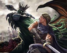 Eowyn and Nazgul by Clark Huggins