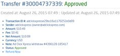 My 39th payment proof from ACX! Here is my Withdrawal Proof from AdClickXpress. I get paid daily and I can withdraw daily. Online income is possible with ACX, who is definitely paying - no scam here.    http://www.adclickxpress.com/?r=sojcica&p=mx