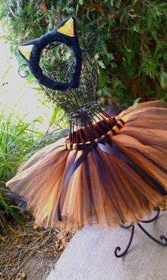 a8839cf4ed Halloween Tutu Costume - Black & Orange Tutu - Infant, Toddler, Girls Tutus.