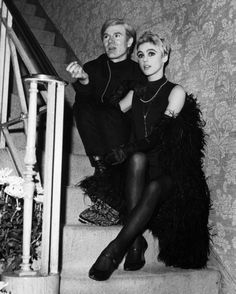 Andy Warhol &Edie Sedgwick.
