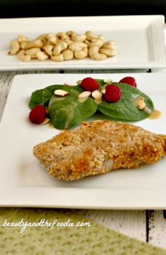 Garlic Cashew Crusted Pork Chops. Grain free and Low Carb. My family's favorite grain free breaded and baked pork chop recipe! beautyandthefoodie.com