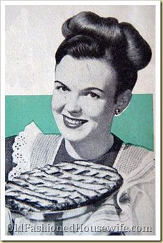 vintage lady with pie