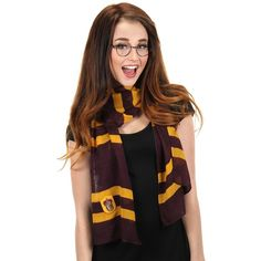 elope Harry Potter Gryffindor House Lightweight Scarf (€15) ❤ liked on Polyvore featuring accessories, scarves, light weight scarves, lightweight scarves and elope