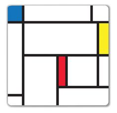 """Magnetic Wipe Board - Color Block """"Piet Mondrian was a Dutch painter in the 1900's who inspired the design of this dry erase board. We thought it was the perfect layout to compartmentalize messages and get your thoughts organized in an artistic way. A dry erase marker, 3m double sided tape and magnets for mounting are all included."""" ($13.00)"""