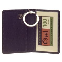 OWL Recycled Simple ID Wallet  Black * Read more reviews of the product by visiting the link on the image.