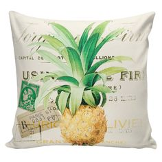 Pillow Cover Home Decor Farmhouse French Kitchen Garden Pineapple Arbella Bradstreet Cotton Front, Burlap or Cotton Back  #AB0102