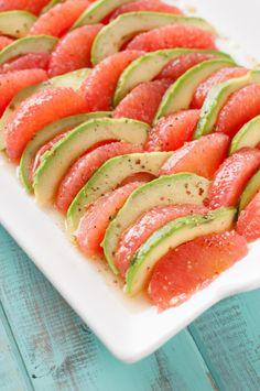 Grapefruit Avocado Salad w/ Mustard Honey Vinaigrette - The Kitchen McCabe