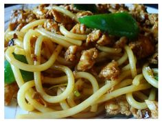 Chinese Sichuan Style Chicken Noodle.