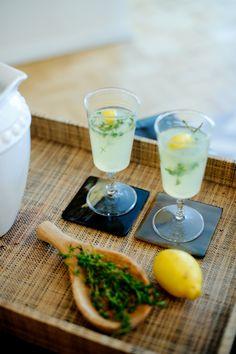 Signature Cocktail Inspo: Vodka Thyme Lemonade