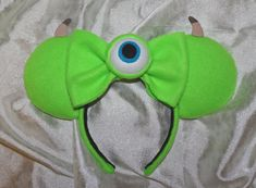 Diadema de orejas de ratón monstruo verde