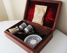 Turkish Coffee Set In Wooden Box By Eastanbuldesign