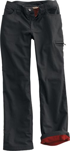 Women's Fleece-Lined Flex Fire Hose Pants | Duluth Trading Company