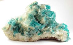 #DIOPTASE in and on #CALCITE