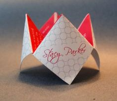 Origami Cootie Catcher Wedding Favor by Designs by Tenisha on Etsy