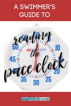 A swimmer's guide to reading and using a pace clock and interval training, an essential skill for every swimmer to master. Swim Team Mom, Swim Mom, Swimming Times, Swimming World, Olympic Badminton, Olympic Games Sports, Sport Gymnastics, Olympic Gymnastics, Swim Training