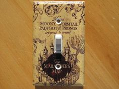 Marauders Map Light Switch 19 Things You Need For Your Harry Potter-Themed Bathroom Harry Potter Bathroom, Harry Potter Nursery, Harry Potter Light, Marauders Map, Light Of Life, Light Switch Plates, Mischief Managed, New Baby Products, Geek Stuff
