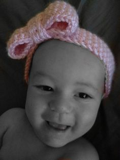 Crochet Baby Bow Headband $12.00