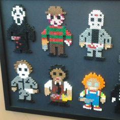 Horror movie characters perler beads by nickk_nirvana