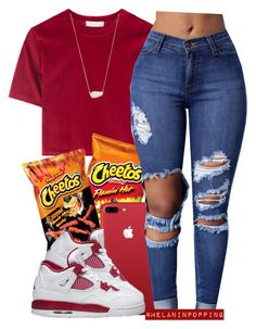 """""""Red Drop Shawty"""" by melaninpopping ❤ liked on Polyvore featuring Kendra Scott"""