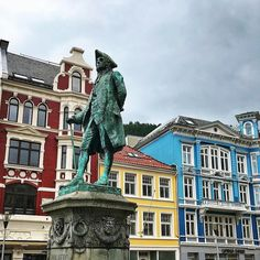 The skies may sometimes be rainy and grey - but this city certainly isn't #Bergen #visitbergen : @earthxplorer