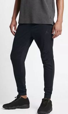 0fd280a9878e Details about NWT Nike MEN JORDAN 23 LUX SWEATPANT BLACK 835844-010 SZ XL