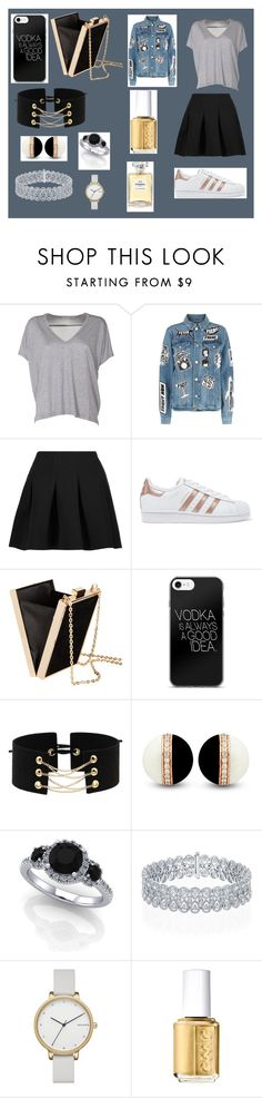 """""""Untitled #562"""" by bexie16 on Polyvore featuring Acne Studios, Frame, T By Alexander Wang, adidas Originals, H&M, Skagen, Essie and Chanel"""