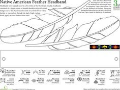 Color and make a Native American Headband