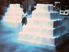 "Judy Chicago, Lloyd Hamrol, Eric Orr ""Dry Ice Environment #2"" 1968"