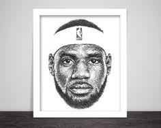 Scribbled LeBron James