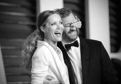 Pin for Later: Retour Sur les Meilleurs Moments des Oscars 2015 Leslie Mann et Judd Apatow