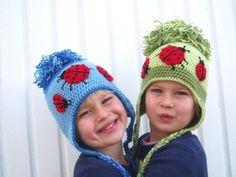 Childrens Ear Flap Hat Crochet Pattern PDF by Mary5604