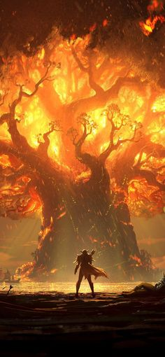 World of Warcraft Battle for Azeroth Ultra HD Mobile Wallpaper.World Dark Fantasy Art, Fantasy Artwork, Final Fantasy, Fantasy Trees, Fantasy Battle, Fantasy Forest, Fantasy Places, Fantasy World, Fantasy City