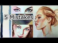 Watercolor Tips to Improve Paintings - 5 Beginner Mistakes - YouTube. Good stuff here but I just love watching her paint the faces!! I'm getting all sorts of instruction on shading, skin color, etc. just watching her work, even if she's showing mistakes.