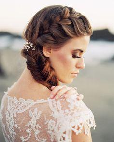 Gorgeous bridal braid: http://www.stylemepretty.com/2015/03/24/sunset-bodega-bay-wedding-inspiration/   Photography: Jeremiah & Rachel - http://jeremiahandrachel.com/