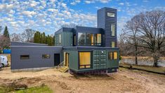 Shipping Container Home Designs, Shipping Container House Plans, Container House Design, Shipping Containers, Building A Container Home, Container Buildings, Container Architecture, Container Homes Australia, Roof Truss Design