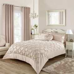 Champagne Karissa Bed Linen Collection | Dunelm
