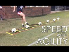 Training Drills: Learn aboutb Individual Soccer Speed and Agility T.Football Training Drills: Learn aboutb Individual Soccer Speed and Agility T. Soccer Footwork Drills, Football Training Drills, Soccer Drills For Kids, Football Workouts, Soccer Practice, Soccer Skills, Youth Soccer, Soccer Boys, Soccer Games