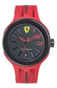 Scuderia Ferrari \'FXX\' Silicone Strap Watch, 46mm | Nordstrom