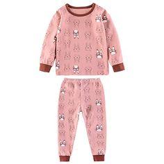 5585b06eba Kinder Pyjamas SetLangärmelige Pyjamas Schlaf Hosen Baumwolle Kinder Home  Frühling Und Herbst Sommer Kinder Familie AnzugPink