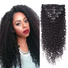 Beni takip Saç Uzantıları Virgin Saç Kinky Kıvırcık Klip Kinky Kıvırcık Klip Ins Afro-amerikan İnsan Saç Klip uzantıları
