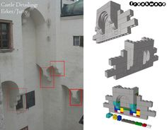 A simple and space saving way to create nice looking supports for jutties. PS: Guess the castle :-)