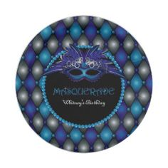 Masquerade Party 7 Inch Paper Plate