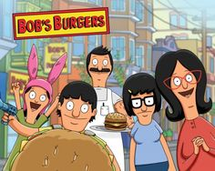 Bob's Burgers centers on the Belcher family (consists of Bob, Linda, Tina, Gene and Louise) who own a hamburger restaurant. Bob's burgers are really delicious and appear to be better than his rivals' but when it comes to selling burgers, his kids aren't really helpful, as more customers head over to Jimmy Pesto's restaurant.