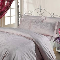 Morning Bliss 6-Piece Duvet Set  You'll never want to leave your bed again with the dreamy Morning Bliss duvet set. Featuring a stunningly subtle design, it will add a touch of luxury to your bedroom. These also includes a flat sheet and 4 pillow cases. This duvet was fabricated larger for your comfort and style.