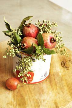 Unique vegetable and fruit centerpieces