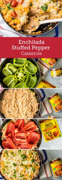 This Enchilada Stuffed Pepper Casserole is a great recipe for the whole family and entirely customizable! Quick to make and both flavorful and filling, we guarantee your family will be requesting this one and over again.