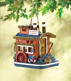 Tugboat birdhouse
