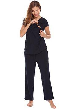63ffddfc990f17 Ekouaer Mulher Longa Enfermagem Pijama Enfermagem Pijamas Camisola para  Mulheres Grávidas - #Camisola #Ekouaer #enfermagem #grávidas #Longa #Mulher  ...