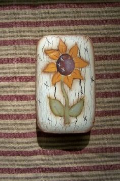Sunflower Primitive Bath Soap Bar Kitchen Country Home Decor Decoration Handpainted Spring