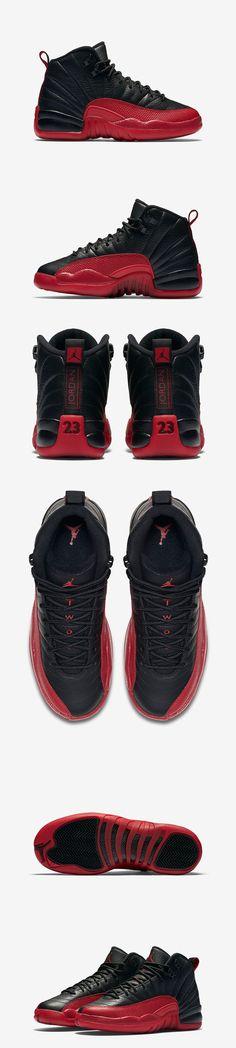 Kids Air Jordan 12 Retro Flu Game (Black/Varsity Red) - EU Kicks: Sneaker Magazine